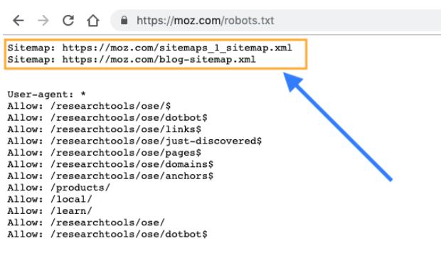 Sitemap in robots.txt